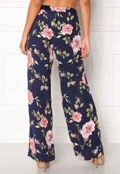 New Look Frida Print Wide Pants Blue Pattern Bubbleroom.fi