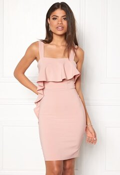 New Look Go Asym Ruffle Satin Bcon Shell Pink Bubbleroom.fi