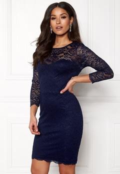 New Look Go Floral Lace Bodycon Dress Navy Bubbleroom.se