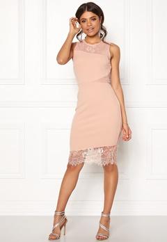 New Look Go Jen Lace Bodycon Dress Shell Pink Bubbleroom.se