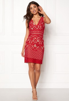 New Look Go Lace Contrast Bcon Red Bubbleroom.no