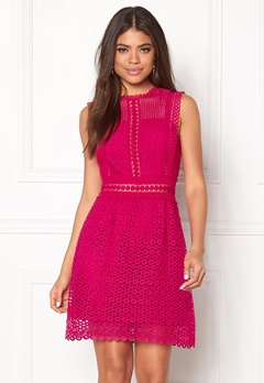 New Look Go Prem Geo Lace Trim Bright Pink Bubbleroom.no