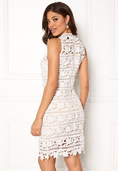 New Look Go Prem Lace Bodycon White Pattern Bubbleroom.no