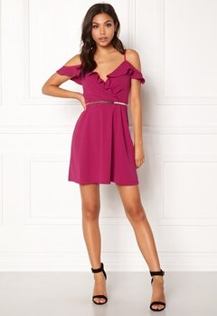 New Look Go Ruffle Dress Bright Pink Bubbleroom.fi