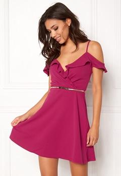 New Look Go Ruffle Dress Bright Pink Bubbleroom.fi