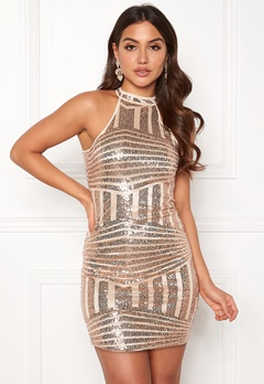 New Look Go Sequin Bodycon Dress Metal Bubbleroom.se