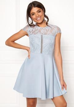 New Look Lace 2 in1 Detail Dress Blue Bubbleroom.se