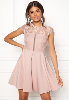 New Look Lace 2 in1 Detail Dress Shell Pink Bubbleroom.se