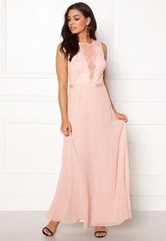 New Look Lace Chiffon Maxi Dress Pink Bubbleroom.se