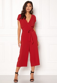 New Look Leonie Wrap Jumpsuit Red Bubbleroom.no