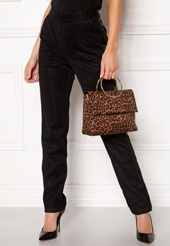 New Look Leopard Matilda Metal Bag Brown Pattern Bubbleroom.se