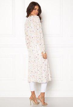 New Look Lurex Lace Up Kaftan White Pattern Bubbleroom.se
