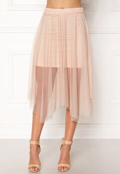New Look Mesh Hanky Skirt Shell Pink Bubbleroom.fi