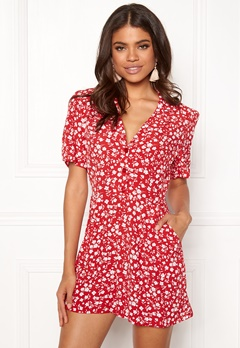 New Look Mi Ditsy playsuit red Pattern Bubbleroom.se