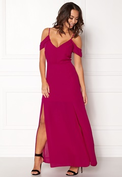 New Look One Shoulder Maxi Dress Bright Pink Bubbleroom.no