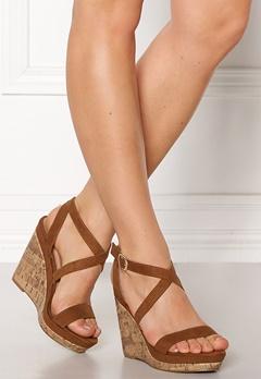 New Look Oiler Wedge Sandal Tan Bubbleroom.se