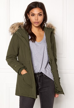 New Look Parka Parka Khaki Bubbleroom.fi