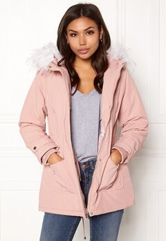 New Look Parka Parka Pink Bubbleroom.fi