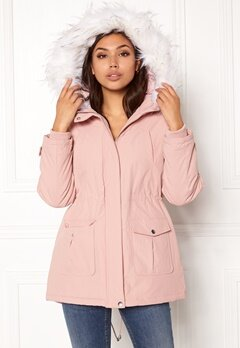 New Look Parka Parka Pink Bubbleroom.no