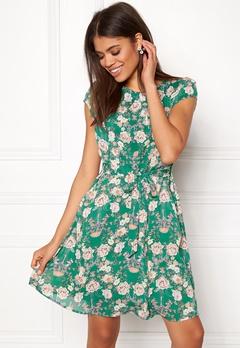 New Look Print Chiffon Dress Green Pattern Bubbleroom.se