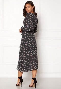 New Look Print Lattice Maxi Dress Black Pattern Bubbleroom.fi