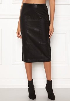 New Look PU Pencil Skirt Black Bubbleroom.se