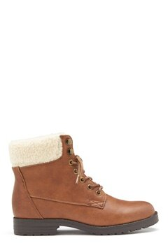 New Look PU Shearling Lace up Boot Tan Bubbleroom.se