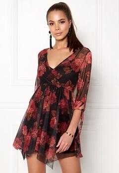 New Look Reese Mesh Dress Black Pattern Bubbleroom.fi