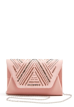 New Look Rita Structure Clutch Sheel Pink Bubbleroom.se