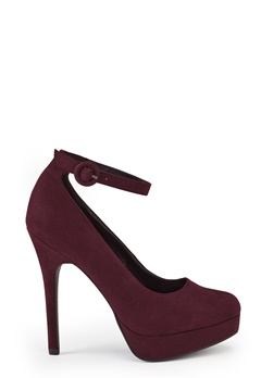 New Look Robust Platform Ankle Dark Red Bubbleroom.se