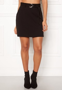 New Look Scuba Crepe Skirt Black Bubbleroom.se