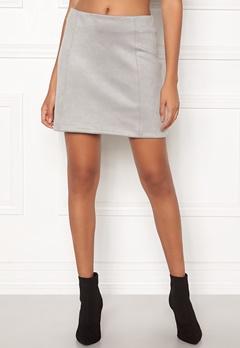 New Look Seam Suedette Mini Skirt Pale Grey Bubbleroom.se