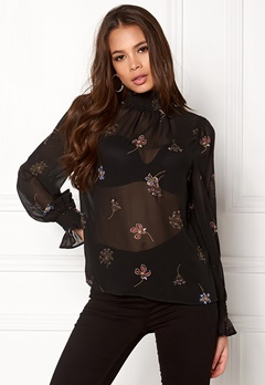 New Look Sequin Shell Blouse Black Pattern Bubbleroom.se