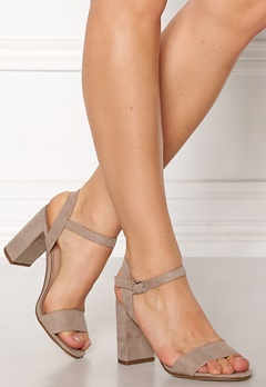 New Look Sims Block Heel Sandal Grey Bubbleroom.se