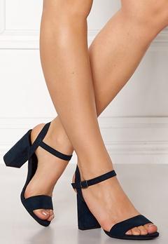 New Look Sims Block Heel Sandal Navy Bubbleroom.se