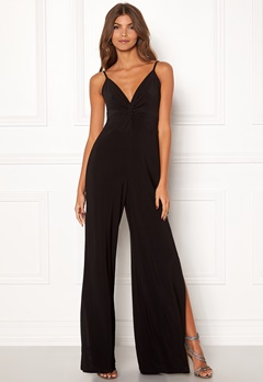 New Look Slinky Twist Jumpsuit Black Bubbleroom.se