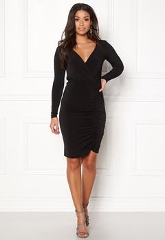 New Look Slinky Wrap Dress Black Bubbleroom.fi