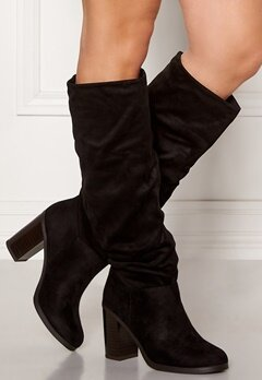 New Look Slouch High Leg Boots Black Bubbleroom.se