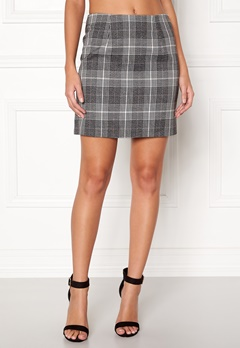New Look Sparkle Check Mini Skirt Light Grey Bubbleroom.no