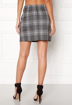 New Look Sparkle Check Mini Skirt Light Grey Bubbleroom.fi