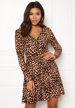 New Look T Max Animal Swing Dress Brown Pattern Bubbleroom.se