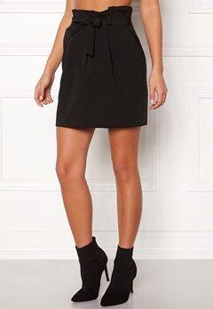 New Look Tie Waist Mini Skirt Black Bubbleroom.se