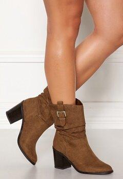 New Look Western Mid Calf Boots Tan Bubbleroom.se