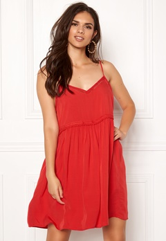 New Look Wow Tild Plain Dress Red Bubbleroom.se