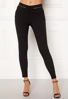 New Look Zip Bengaline Leggings Black Bubbleroom.se