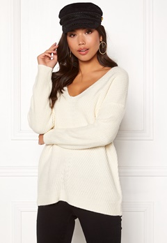 New Look Lattice Back Jumper Off White Bubbleroom.se