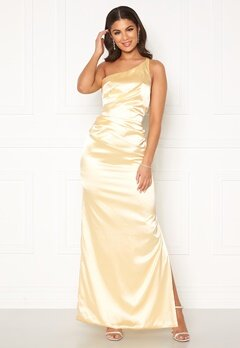 Nicole Falciani X Bubbleroom Nicole Falciani Pleat Gown Yellow Bubbleroom.se