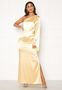 Nicole Falciani X Bubbleroom Nicole Falciani Satin Gown Gold-coloured Bubbleroom.se