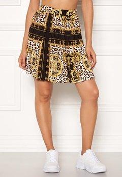 Rut & Circle Nicole Pleated Skirt Yellow Print Bubbleroom.se