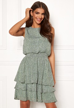 Sisters Point Nicoline Dress 207 L.Khaki/Leo Bubbleroom.se